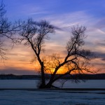 Winter Sunset Over Onondaga Lake, NY