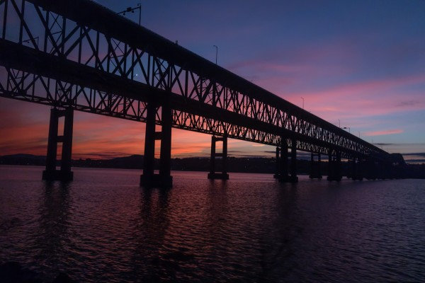 Newburgh-Beacon Bridge at sunset