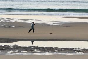 Tai Chi on beach