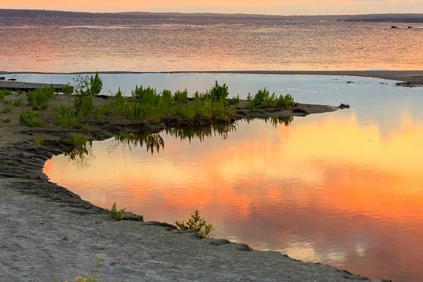 sunset in Halls Harbor Nova Scotia